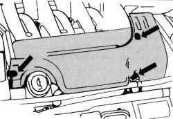Крепление облицовки двигателя V6