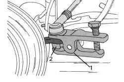 Съемник наконечника поперечной рулевой тяги