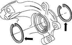 Стопорные кольца для фиксации колесного подшипника