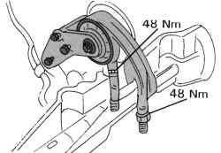 Задний упор против проворачивания на автоматической коробке передач