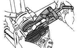 Утапливание поршня тормозного суппорта
