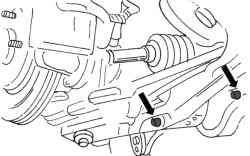 Крепление заднего поперечного рычага автомобилях с двигателем мощностью 200 л.с.