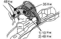 Крепление заднего упора против проворачивания на автоматической коробке передач