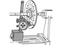 Измерение биения ведомого диска сцепления