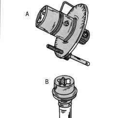 Градуированный диск (А) и винты «Torx» (В)