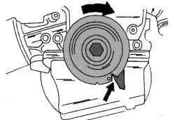 Установка коленчатого вала в верхнюю мертвую точку (ВМТ)