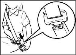 Трехточечный ремень безопасности (с инерционным механизмом блокировки)