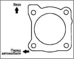 Снятие и установка корпуса дроссельной заслонки