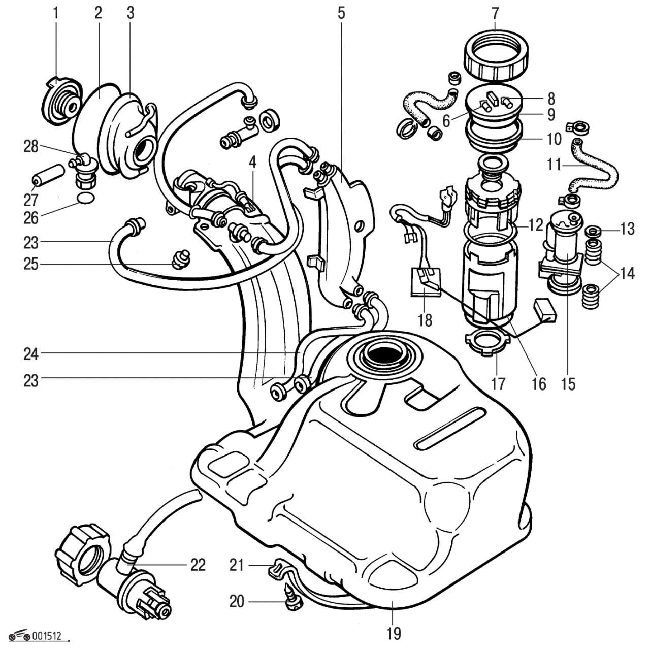 Рисунок двигателя пассат б3