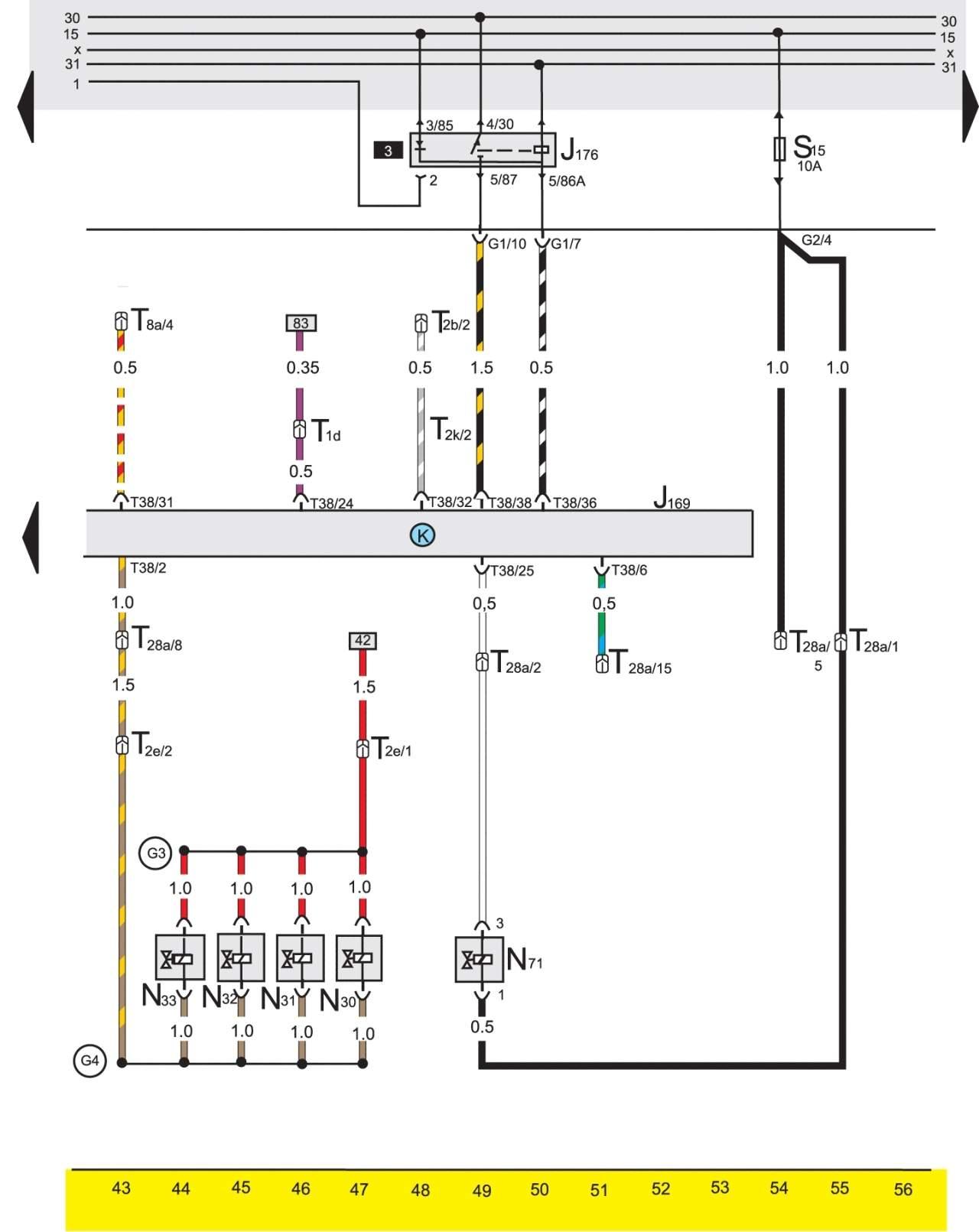 Схема инжектор фольксваген двигатель 2е