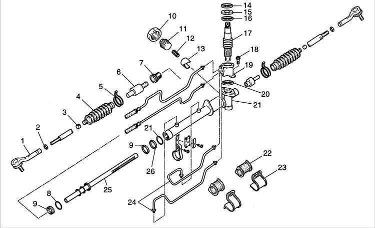 Схема замены рулевой рейки