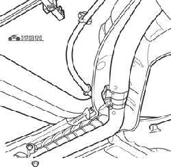 Расположение стяжной муфты на трубе