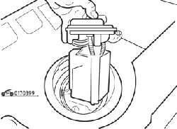 Извлечение топливного насоса из топливного бака