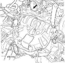 Болты крепления корпуса дроссельной заслонки (стрелки)