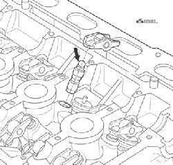 Проверка гидротолкателя (усилие прикладывается по стрелке)