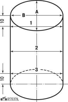 Схема измерения диаметра цилиндра
